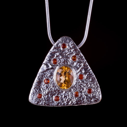 Callisto Citrine Pendant Lunar Collection by Caraliza Designs - handcrafted sterling silver jewellery