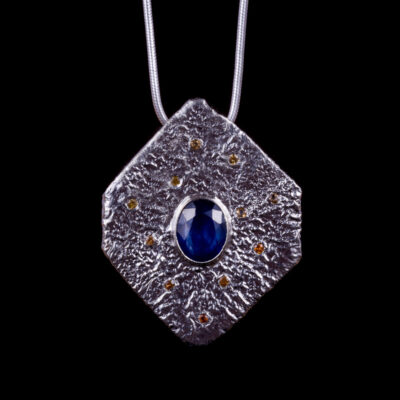 Titania Saphire Citrine Pendant Lunar Collection by Caraliza Designs - handcrafted sterling silver jewellery