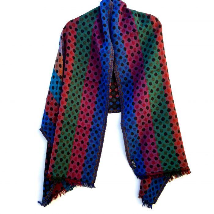 Autumn Polka Dot Merino Wool Shawl by Caraliza Designs