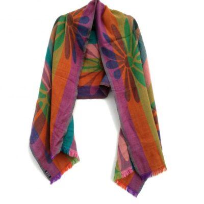 Irish Blossom Merino Wool Shawl by Caraliza Designs