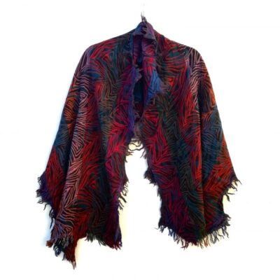 Atumn Forest Merino Wool Shawl by Caraliza Designs