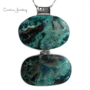"""""""Oceans Allure"""" Azurite Pendant, handcrafted jewellery in sterling silver by Caraliza Designs"""