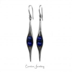 White Pearl Seedpod Earrings, jewellery handcrafted in sterling silver by Caraliza Designs