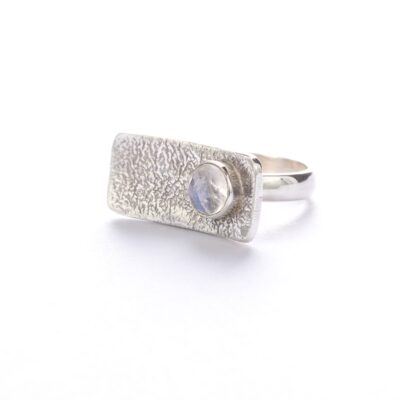 Moonstone Bar Ring, ethical jewellery handcrafted by Caraliza Designs