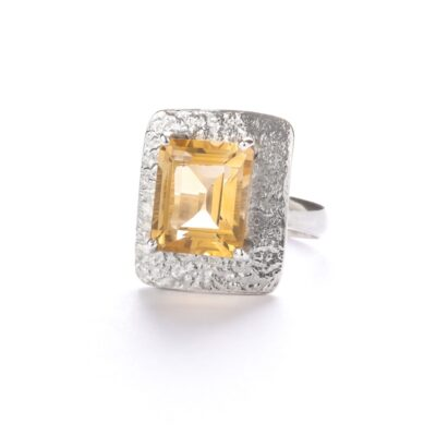 """Royal Elegance"" Citrine ring, ethical jewellery handcrafted in sterling silver by Caraliza Designs"