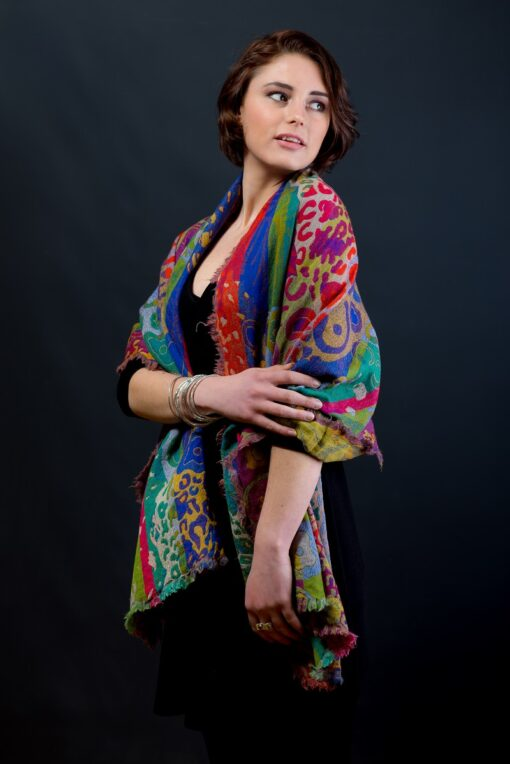 Sustainable Merino Wool Shawl by Caraliza Designs