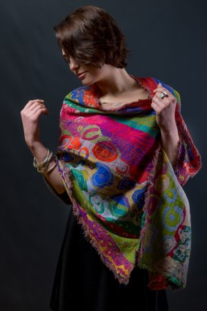 Pure Merino Wool Shawl by Caraliza Designs
