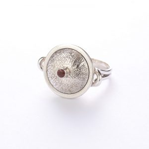 Garnet Potluck Ring, ethical jewellery handcrafted in sterling silver by Caraliza Designs