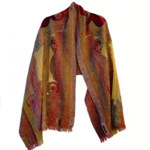 Buttercup Paisley Merino Wool Shawl