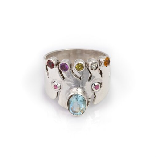 Atlantic Queen Collection with Blue Topaz, ethical jewellery handcrafted in sterling silver by Caraliza Designs