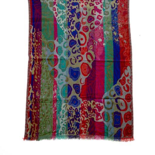Vibrant Klimt Merino Wool Shawl by Caraliza Designs