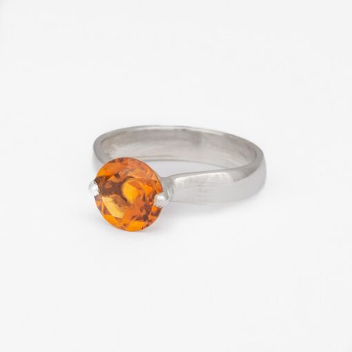 Orange Citrine Ring, ethically jewellery handcrafted in sterling silver by Caraliza Designs