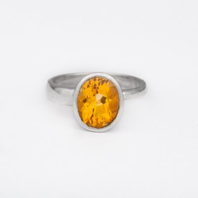 Perfectly Imperfect Citrine Ring, ethically handcrafted sterling silver jewellery by Caraliza Designs