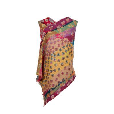 Butterfly Garden Merino Wool Shawl by Caraliza Designs
