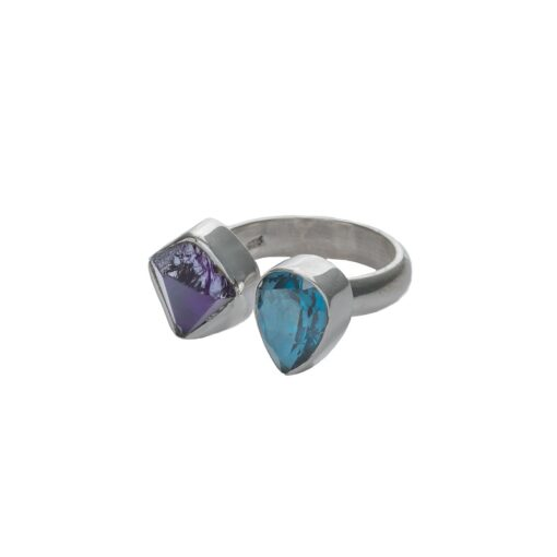 """""""Opposites Attract"""" sterling silver ring, ethically handcrafted jewellery by Caraliza Designs"""