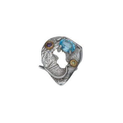 Soulmates In Love unique textured ring