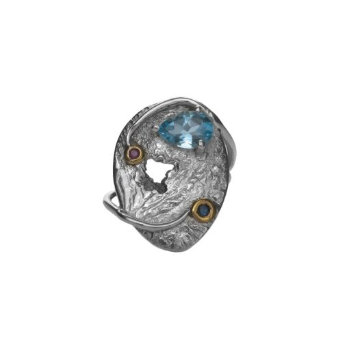 """""""Eternal Soulmates"""" textured unique ring, handcrafted in sterling silver, ethical jewellery by Caraliza Designs"""