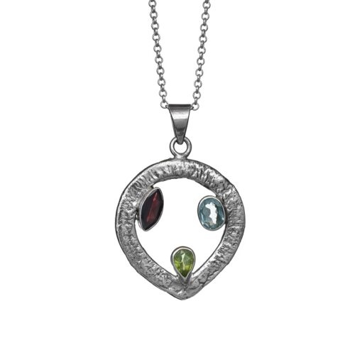 """Celtic Trine"" textured sterling silver pendant, ethical jewellery handcrafted by Caraliza Designs"