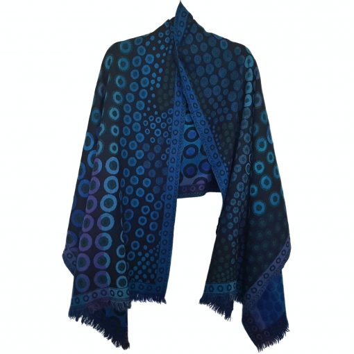 Kandinsky Merino Wool Shawl by Caraliza Designs