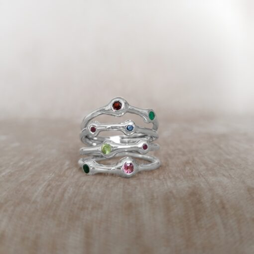 Stronger Together multi-band ring, Irish jewellery ethically handcrafted in sterling silver by Caraliza Designs