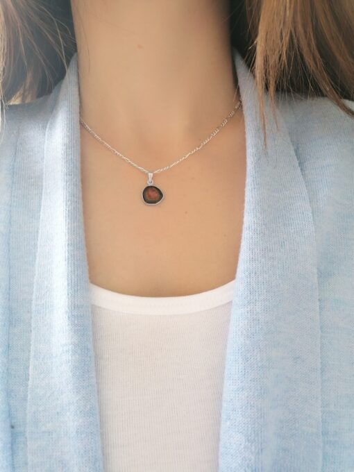 Tourmaline sterling silver pendant, Irish jewellery ethically handcrafted in sterling silver by Caraliza Designs