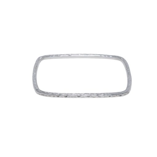 Hammered square bangle, Irish jewellery ethically handcrafted in sterling silver by Caraliza Designs