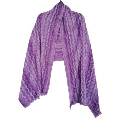 Lilac Waves Merino Wool Shawl by Caraliza Designs