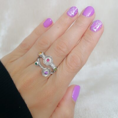 Wildflower ring, Irish jewellery ethically handcrafted in sterling silver by Caraliza Designs