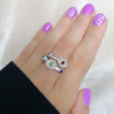 Wildflower Ring, Irish jewellery ethically handcrafted by Caraliza Designs